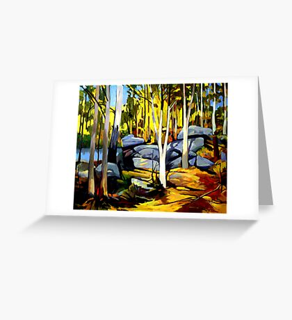 Sunlight and rocks Greeting Card
