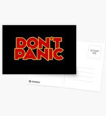 Postales Dont Panic - La guía del autoestopista galáctico