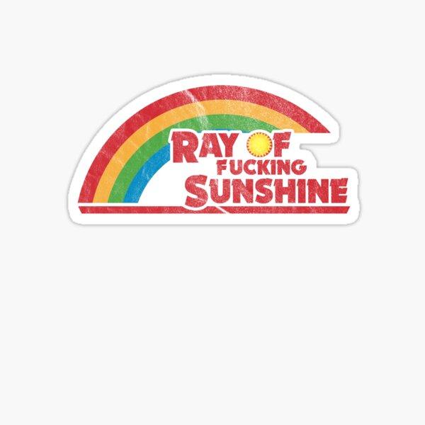 Ray of F*cking Sunshine   Vintage Style Rainbow Sticker