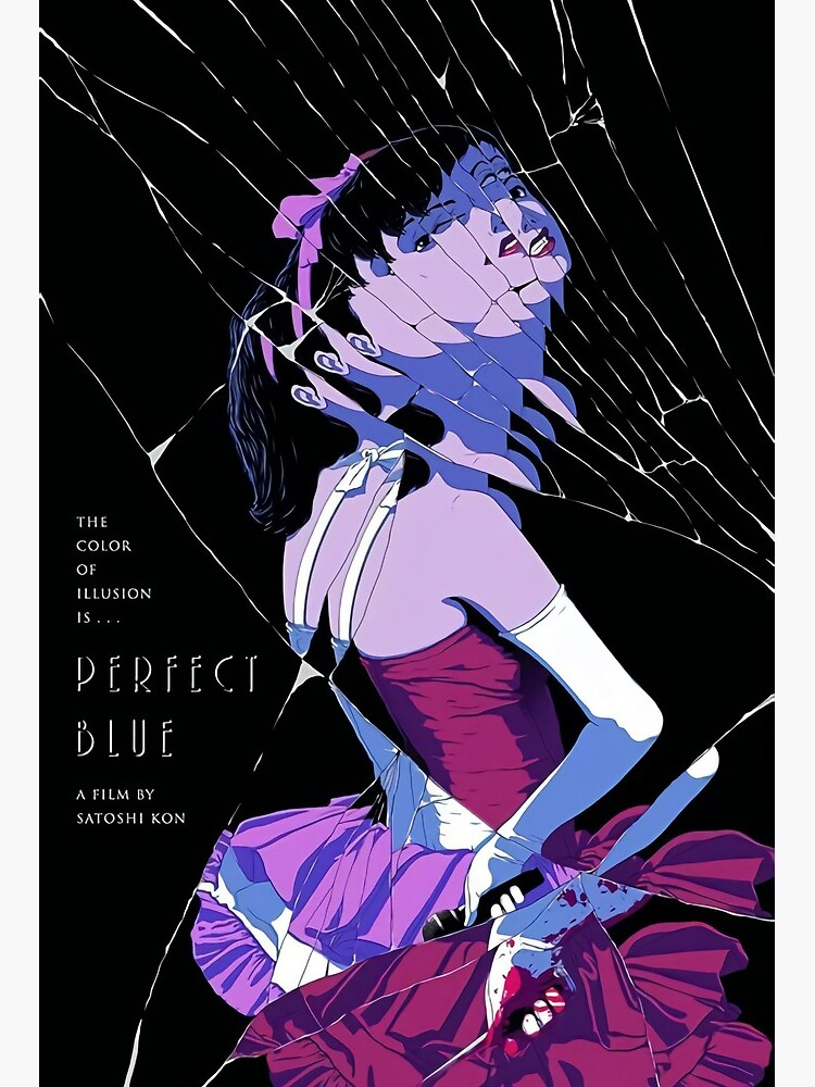 Perfect Blue Poster Art Board Print By Dinosoris Redbubble