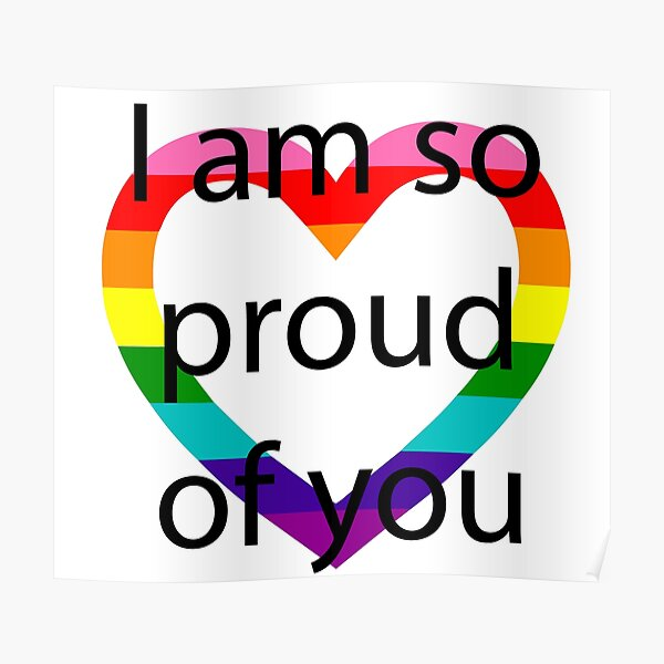 So Proud Rainbow Heart Poster