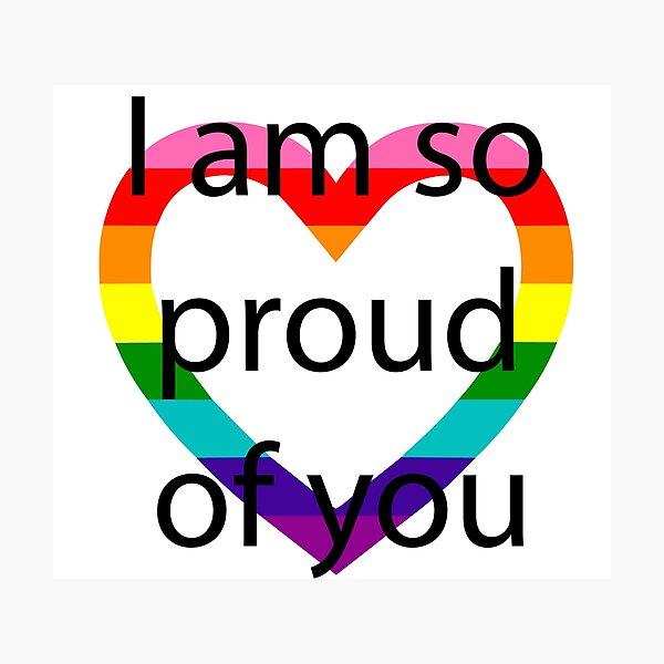 So Proud Rainbow Heart Photographic Print