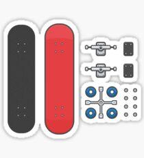 skateboarding kit Sticker