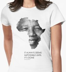 Nelson Mandela Africa Women's Fitted T-Shirt
