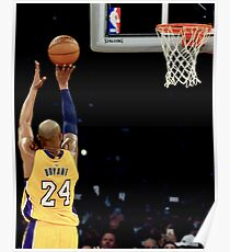 Kobe Basketball Shot Poster