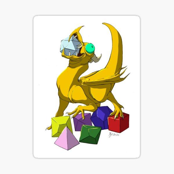 Dice Dragon Sticker