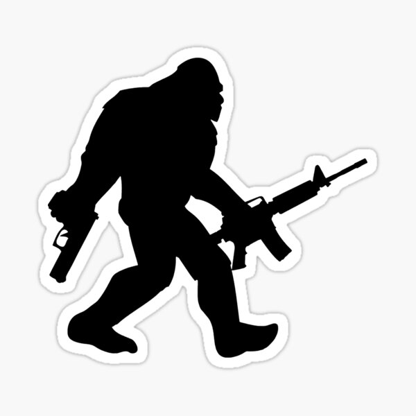 Bigfoot - Guns Sticker