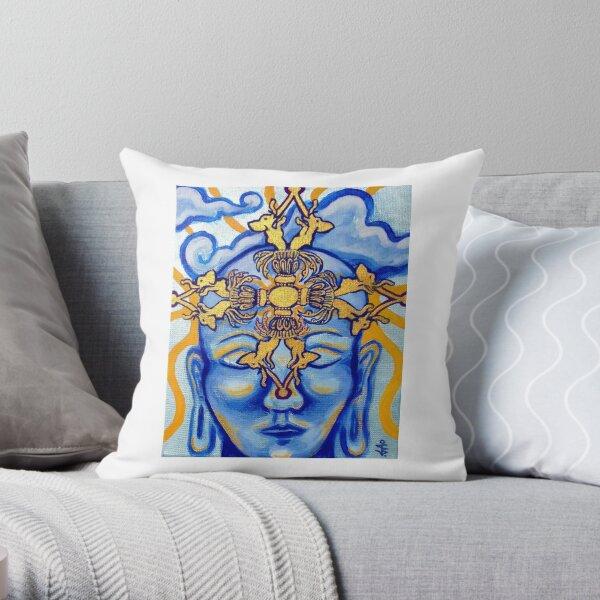 Meditating Buddha Throw Pillow