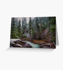 Early Snow ~ Upper Quartzville Crek~ Greeting Card