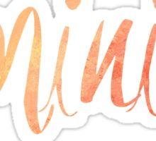 Feminist Typography 1 Sticker