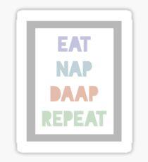Eat Nap DAAP Repeat Sticker