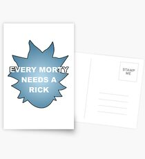 Every Morty Needs A Rick Postcards