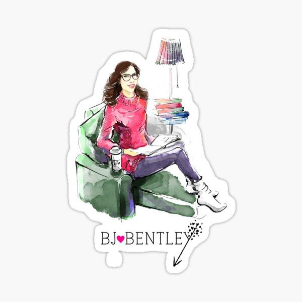 Illustrated BJ Bentley Sticker