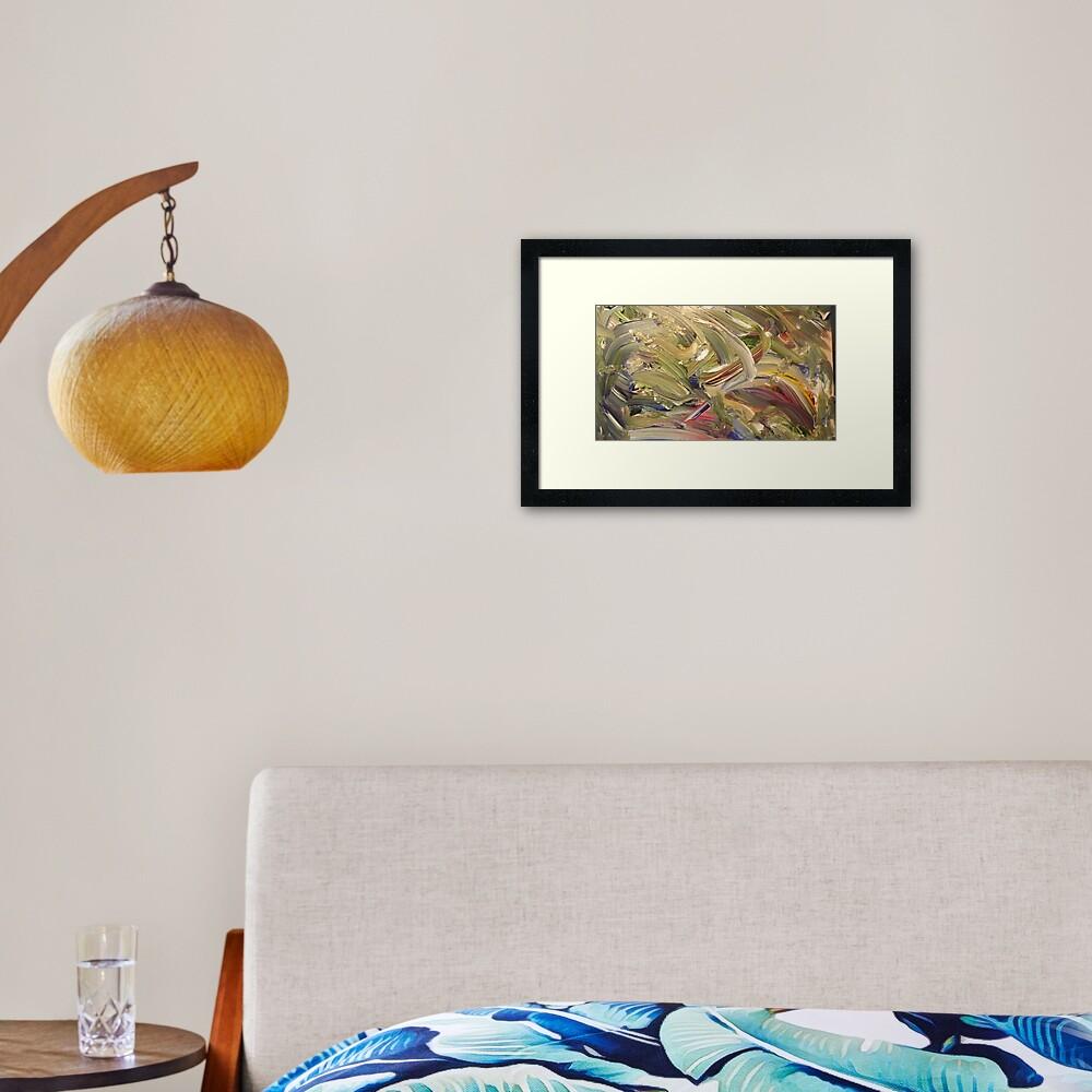 """""""Emerald's Domain"""" - Acrylic on Canvas Framed Art Print"""
