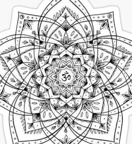 Black and white mandala Sticker