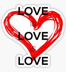 Love Is Love Is Love (Black) Sticker