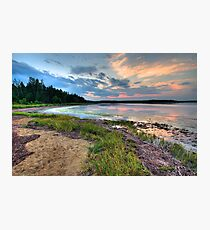 Sunset on the Salt Marsh Photographic Print