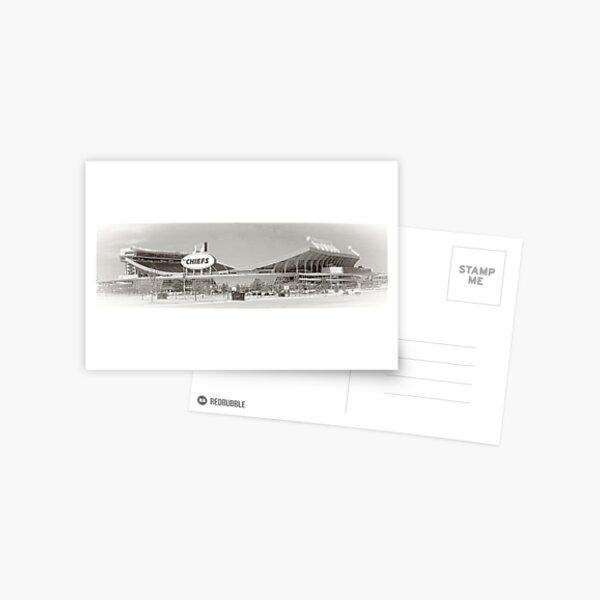 Arrowhead Stadium, Kansas City Chiefs, Tilt-Shift, Black and White Postcard