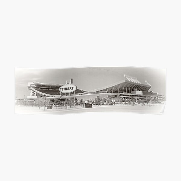 Pfeilspitze-Stadion, Kansas City Leiter, Neigung-Verschiebung, Schwarzweiss Poster