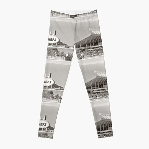 Arrowhead Stadium, Kansas City Chiefs, Tilt-Shift, Black and White Leggings