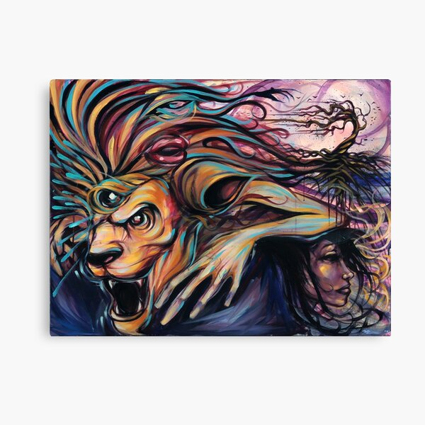 The Beast Within Rasta Lion Reggae Lioness Canvas Print