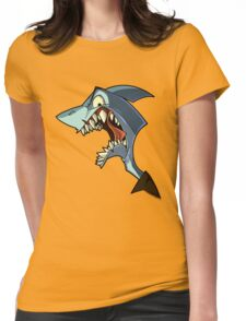 Angry blue shark with shading Womens Fitted T-Shirt