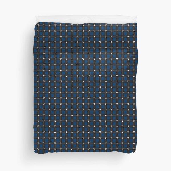 Kingdom Hearts III - Flannel Pattern (Midnight Blue) Duvet Cover