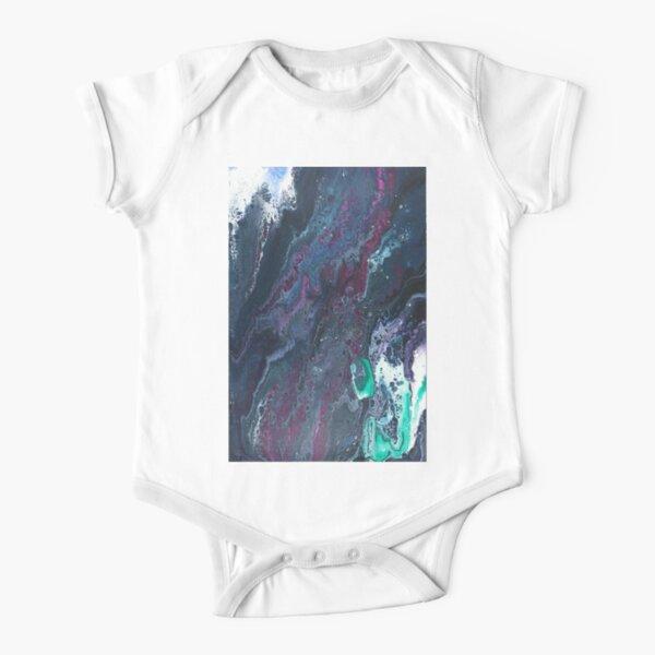 Skipping Between Raindrops Short Sleeve Baby One-Piece