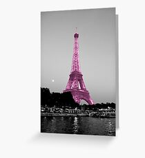La Vie En Rose - Eiffel Tower in pink Greeting Card