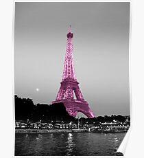 La Vie En Rose - Eiffel Tower in pink Poster