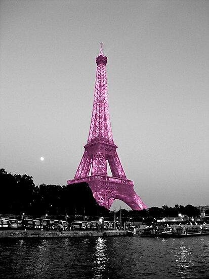 La Vie En Rose - Eiffel Tower in pink by Kim North