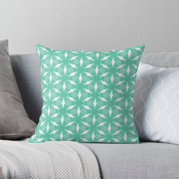 Biscay Green #3 Throw Pillow