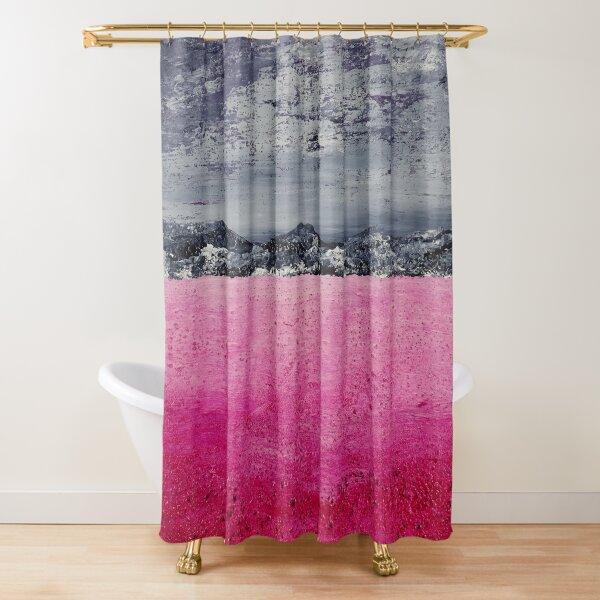 Pink desert / acrylic painting Shower Curtain