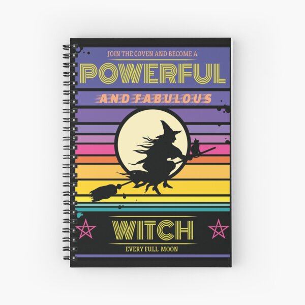Powerful and fabulous witch Cahier à spirale