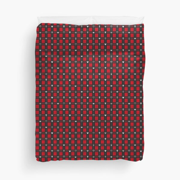 Kingdom Hearts III - Flannel Pattern (Red) Duvet Cover