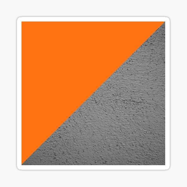Beton gegen orange diagonalen Farbblock Sticker