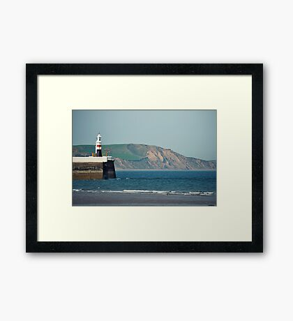 Ramsey Coastline - A View From The Pier Framed Print