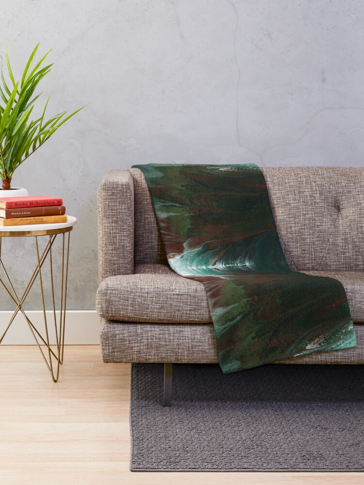 Alternate view of Surging Waves Throw Blanket
