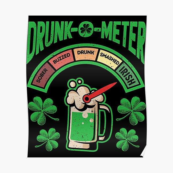 Patrick/'s Day St Louis Stallions Tshirt Drunk-O-Meter St