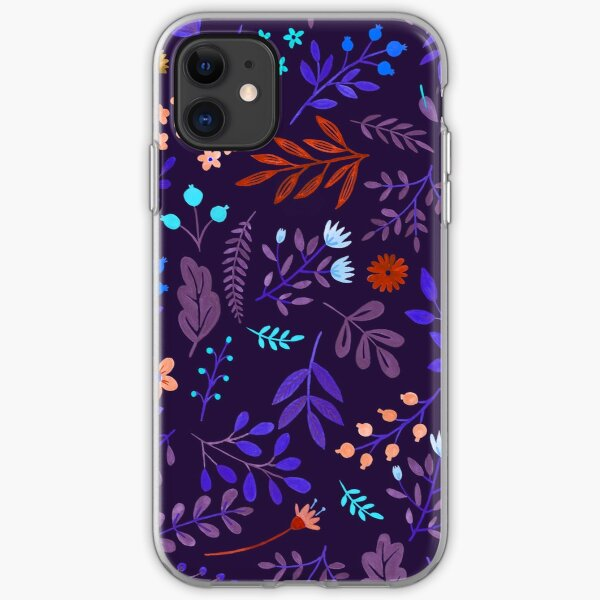 Purple wild flowers iPhone Soft Case
