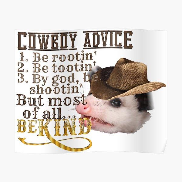 Conseils Cowboy Poster