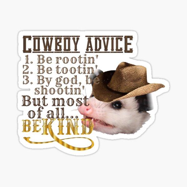 Cowboy Advice Sticker