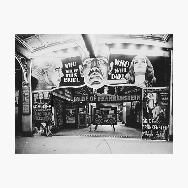 The Grand Theatre foyer decorated for film The Bride of Frankenstein, Perth, 1934, State Library of Western Australia Photographic Print