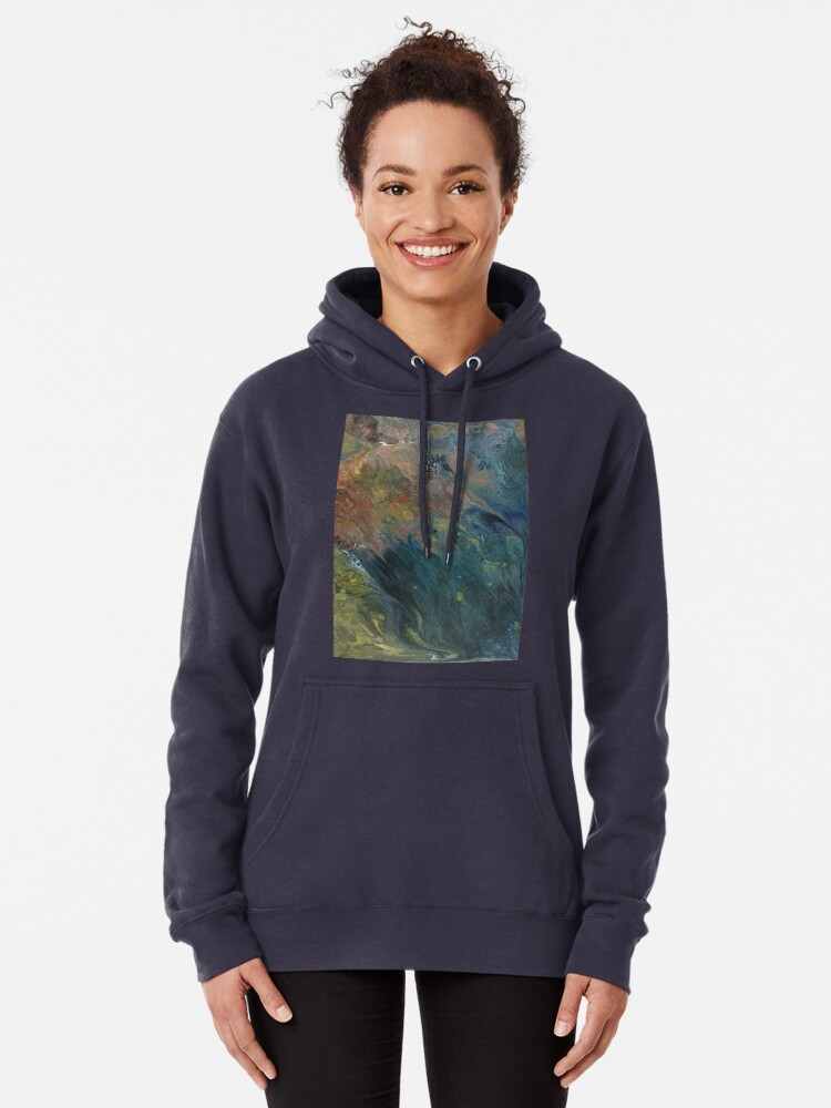 Alternate view of The River Dreams of Spring Pullover Hoodie
