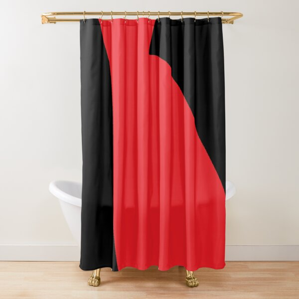 Darkness, the polar opposite of brightness, is understood as a lack of illumination or an absence of visible light Shower Curtain