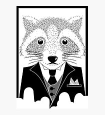 Raccoon in Suit Photographic Print