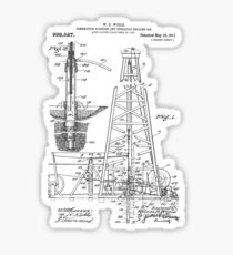 1911 Oil Rig Patent Sticker