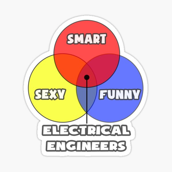 Venn Diagram - Electrical Engineers Sticker