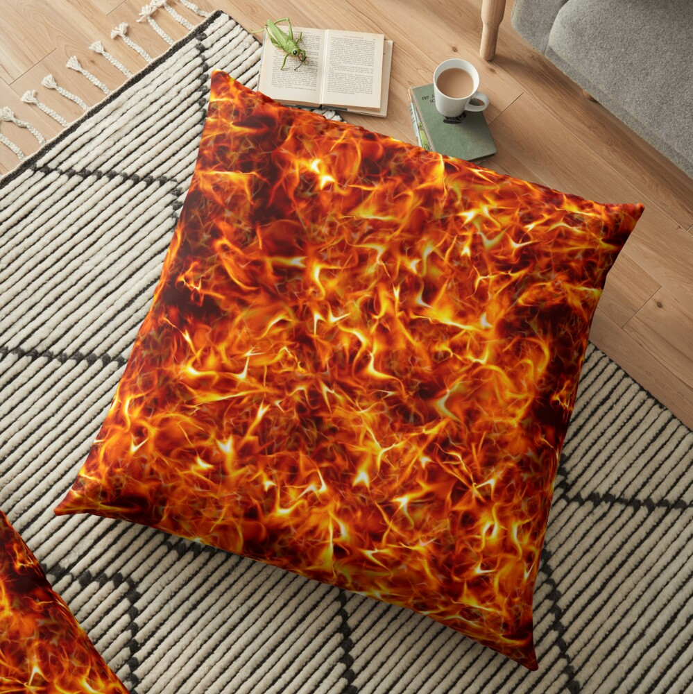 Fire for decorative products Floor Pillow