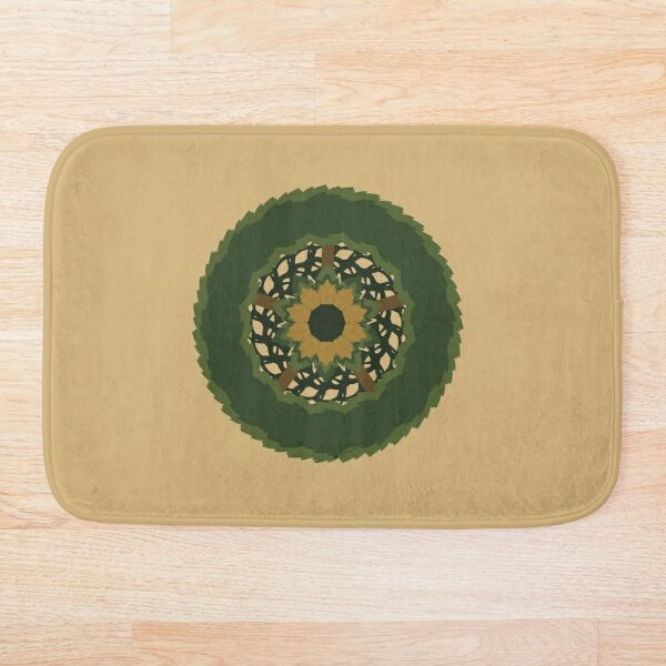 Spring Wreath-Traditional Version Bath Mat